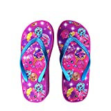 Shopkins Girls Wedge Sandals with Sidewall Print in Fuchsia/Donut, Size 13/1 US Little Kid