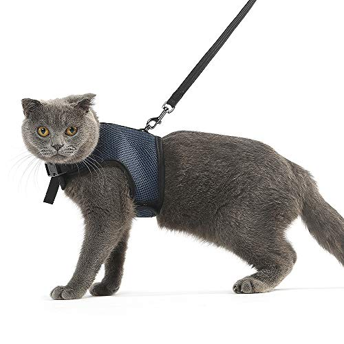 Niteangel 2-Pack of Adjustable Cat Harness with Elastic Leash 1