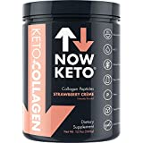 NOW KETO Keto CollagenTM Peptides w/MCTs Powder (Medium Chain Triglycerides) - Keto Diet - Low Carb High Fat (LCHF) & Great Fiber Source, Great for The Ketogenic Diet & Ketosis- Strawberry Creme