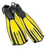 Mares Avanti Quattro Plus Open Heel Bungee Strap Fin, Yellow, X-Large