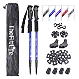 TheFitLife Nordic Walking Trekking Poles - 2 Packs with Antishock and Quick Lock System, Telescopic, Collapsible, Ultralight for Hiking, Camping, Mountaining, Backpacking, Walking, Trekking (Blue)