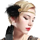 Product review for BABEYOND Vintage 1920s Flapper Headband Roaring 20s Great Gatsby Headpiece with Feather 1920s Flapper Gatsby Hair Accessories