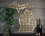 Wooden Shoe Designs Michigan Wine Cork Map, Tan