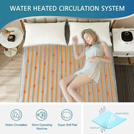 Smart-Water-Heated-Mattress-Pad-Queen-Size-60-x-80-Works-with-Alexa-iOS-Android-Perfect-Substitute-of-Heated-Blanket-Gift-for-ParentsSmart-APP-v1-Grey-Blanket-Queen