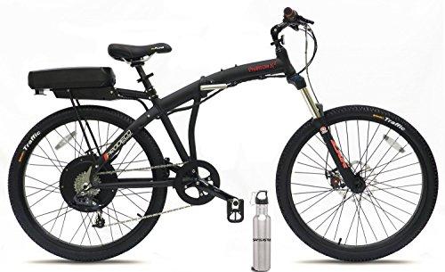 ProdecoTech Phantom X2 v5 Folding Electric Bicycle, w/Safecastle Waterbottle, 500-watt, direct-drive motor, 36-volt, Samsung 11.6-amp hour lithium ion battery (LiFePO4)