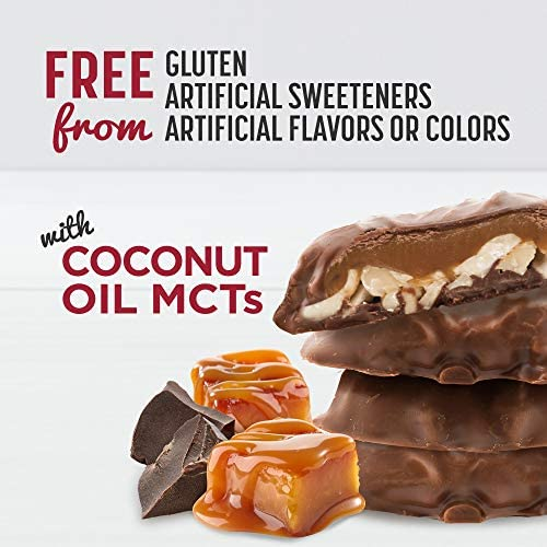 SlimFast Keto Fat Bomb Snacks - Chocolate Caramel Nut Clusters - 14 Count Box - Pack of 4 - Pantry Friendly 4