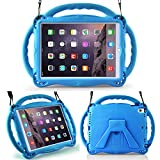 LTROP New iPad 9.7 (2017/2018) Kids Case/iPad Air Case/iPad Air 2 Case - Light Weight Shock Proof Handle Friendly Convertible Stand Kids Case for Apple iPad 9.7(2017/2018) / iPad Air/iPad Air 2,Blue