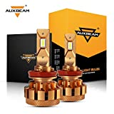 Auxbeam H11 LED Headlight Bulbs F-16 Plus Series LED Headlights with 2 Pcs of H11 Led Headlight Conversion Kits 70W 7000lm High Brightness SMD LED Chips Driving Light (Pack of 2) - 2 Year Warranty