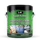 Liquid Rubber Waterproof Sealant, Black 1 Gallon