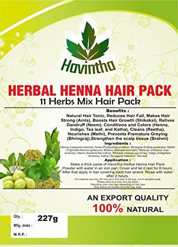 Amazon Com Natural Herbal Henna 11 Herbs Mix Hair Pack 8 Oz Product Of Havintha 227g Beauty