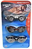 Speedo 3 Pack Adult Swimming Goggles - Colors May Vary