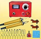 JIAN YA NA 110V 50W Wood Burning Tool Gourd Wood Crafts Tool Kit Multifunction Pyrography Machine