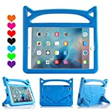 Lmaytech iPad 9.7 2018 & 2017 Release/iPad Air Case, Light Weight Shock Proof Handle Stand Case Cover Kids Friendly for Apple iPad 9.7' (6th Gen, 5th Gen) / iPad Air (Blue)