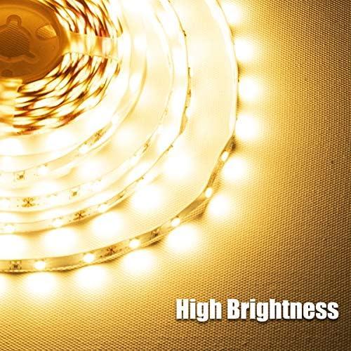 wobsion Under Counter Lights for Kitchen, Under Cabinet Lights Plug in, Under Kitchen Cabinet Lighting,Flexible LED Strip Lights for Kitchen,Pantry,Desk,Shelf,2700K Warm White,6.6 Feet DIY Tape Light 15