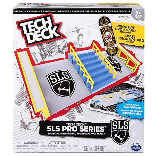 Tech Deck – SLS Pro Series Skate Park - Handrail with Hubba and Signature Pro Board