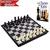 Chess Board for Kids with Chess Book for Beginners – Chess Set Learning Bundle for Kids