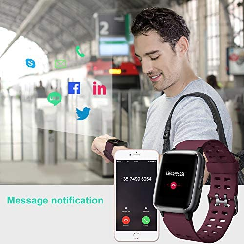 Willful Smart Watch for Android Phones Compatible iPhone Samsung IP68 Swimming Waterproof Smartwatch Sports Watch Fitness Tracker Heart Rate Monitor Digital Watch Smart Watches for Men Women Purple 7