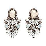 Trendy Fashion Jewelry Wholesale Big Crystal Earrings New Statement Fashion Stud Earrings for Women,Beige