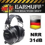 Ear Defender original'EARMUFF' Digital AM FM MP3/Smart phone Radio HEADPHONES Hearing PROTECTOR Ear Muffs