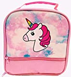 Unicorn Lunch-Box for Girls. Pink Lunch Bag with Rainbow Horn. Large School Lunch-Boxes, Gifts for Little Girl Kids & Toddlers. Cute Tote. Insulated. BPA Free.