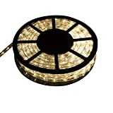 Ainfox LED Rope Light, 100Ft 1080 LEDs Indoor Outdoor Waterproof LED Strip Lights Decorative Lighting (100FT Warm White)