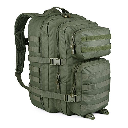 WIDEWAY Military Tactical Backpack 50L Survival Gear Backpacking Large Hydration Molle Bug Out Bag 3 Day Assault Pack Rucksacks Daypack for Outdoor Travel Hunting Camping Hiking Shooting Olive Green