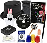 Click N' Play Rabbit & Hat Magic Trick Set for Kids, Over 150 Tricks, Manual & DVD Tutorial, Brown CNP31500