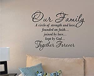 Download Amazon.com: Our Family a Circle of Strength and Love Wall ...
