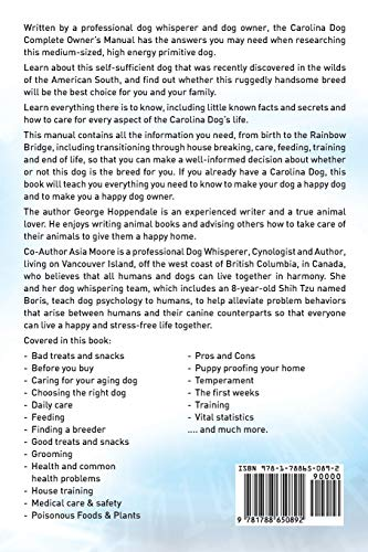 Carolina-Dog-Complete-Owners-Manual-Carolina-Dog-book-for-care-costs-feeding-grooming-health-and-training-Paperback--November-10-2018
