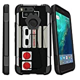 MINITURTLE Case Compatible with Google Pixel case [SHOCK FUSION] kickstand function Retro Controller