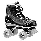 Roller Derby 1378-12 Youth Boys Firestar Roller Skate, Size 12, Black/Gray