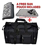 EXPLORER Range Bags Handguns Tactical Gear Shooting Accessories Large 1200 D Gun Bag Waterproof AR Magazine Holders Padded Pistol Cases Ammo Bag (Black EXPLORER Range Bags)