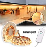MYPLUS Dimmable LED Strip Lights, Under Cabinet Lights, 16.4ft Flexible Led Tape Light with Warm White 3000K and UL Listed Power Supply, Safe Use for Kitchen Cabinet, Counter, Bedroom Decoration etc