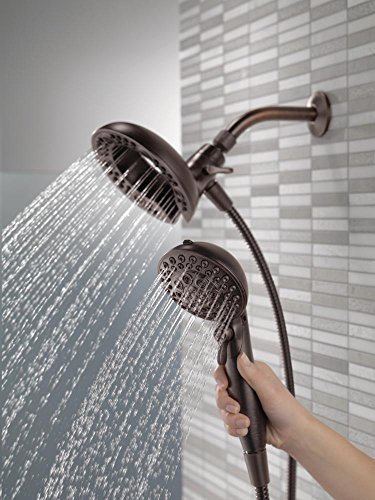 Delta 75588RB In2ition 2.5 GPM Dual Hand Held Rain Shower Heads 2-In-1 Combo With Holder and 72 Inch Hose, Venetian Bronze Finish