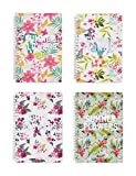 Rosaliny A5 Spiral Bound Notebook and Journal Set-Pack of 4 Summer Flower Planner …