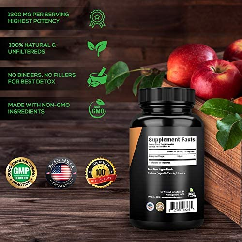 Apple Cider Vinegar Capsules, Detox and Colon Cleanse, Herbal Appetite Suppressant and Metabolism Booster Supports Natural Weight Management by Naturo Sciences 4