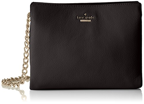 Three-compartment handbag with pebbled finish and logo hardware Chain cross-body strap with leather shoulder
