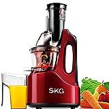 "SKG Wide Chute Anti-Oxidation Slow Masticating Juicer (240W AC Motor, 60 RPMs, 3"" Large Mouth) - Vertical Masticating Cold Press Juicer"