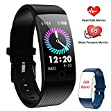 ANSGEC Fitness Tracker, Activity Tracker Watch with Heart Rate Monitor, Color Screen Smart Bracelet with Sleep Monitor,IP67 Waterproof Smart Bracelet for Android and iOS (B)