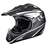 Motocross ATV Helmet DOT Approved Motorbike Moped Full Face Off Road Crash Cross Downhill Four Wheeler MX Quad Dirt Bike Adult Passion Gray Size XL