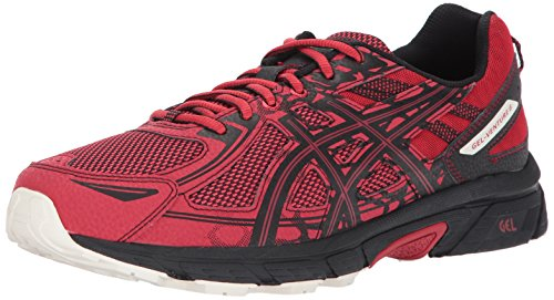 ASICS Mens Gel-Venture 6 Running Shoe, Lychee/Black/Whisper White, 11 D(M) US