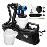 Paint Sprayer, PROSTORMER Electric HVLP Spray Gun with 2Pcs 1000ml Detachable Containers, 3 Adjustable Spray Patterns and 3 Nozzle Sizes - Ideal for Indoor & Outdoor Painting