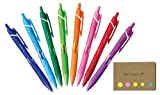 Uni-ball Jetstream Retractable Ballpoint Pen, Micro Point 0.5mm, 8 Colors, Sticky Notes Value Set