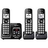 Panasonic KX-TG833SK Link2Cell Bluetooth with Talking Caller ID 3 Handset Cordless Phone (Renewed)