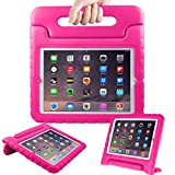 AVAWO Kids Case for 9.7' iPad 2 3 4 (Old Model)- Light Weight Shock Proof Convertible Handle Stand Kids Friendly for iPad 2, iPad 3rd Generation, iPad 4th Generation Tablet - Magenta/Rose