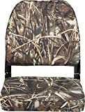 Attwood 98395CAMO Low-Back Padded Boat Seat, Camouflage Pattern