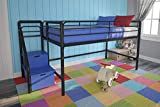 Product review for DHP Junior Metal Frame Loft Bed with Storage Steps - Black with Blue Steps