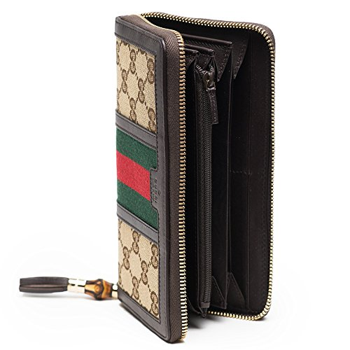9195d7786725 Gucci Rania Original GG zip around wallet Beige Ebony Cocoa Brown ...