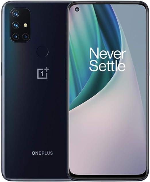 "Amazon.com: OnePlus Nord N10 5G (128GB, 6GB) 6.49"", 90Hz Refresh Rate,  Snapdragon 690, Dual SIM (Euro 5G /Global 4G LTE) GSM Unlocked (T-Mobile,  AT&T, Metro) International Model (Midnight Ice, 64GB SD Bundle)"