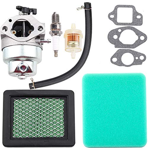 Dxent GCV160 Carburetor for Honda HRT216 HRR216 GCV160A HRS216 Carb Honda GCV160 Carburetor with Air Filter Fuel Line Filter Spark Plug Parts Kit Engine Lawn Mower